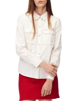 western-cotton-button-down-shirt by calvin-klein-jeans