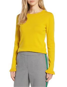 scallop-trim-sweater by halogen®