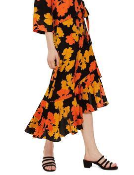 printed-midi-skirt by topshop