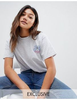 daisy-street-relaxed-t-shirt-with-shark-graphic by daisy-street