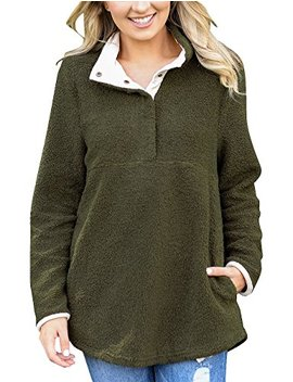 grapent-womens-casual-long-sleeves-stand-collar-buttons-pockets-fleece-pullover by grapent
