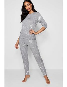 foil-star-lounge-set by boohoo