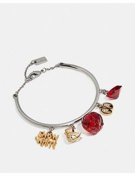 disney-x-coach-snow-white-bangle-charm-bracelet by coach