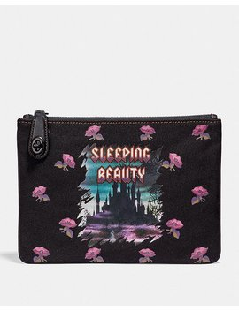 Disney X Coach Sleeping Beauty Turnlock Pouch 26 by Coach