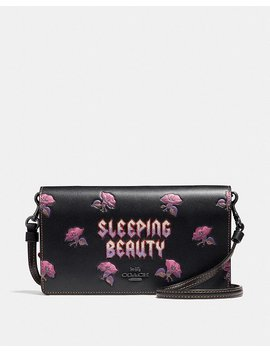 Disney X Coach Sleeping Beauty Foldover Crossbody Clutch by Coach