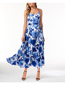 belted-floral-print-maxi-dress by betsey-johnson