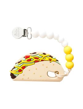 taco-teething-toy-&-holder by loulou-lollipop