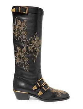 susanna-studded-leather-knee-boots by chloÉ