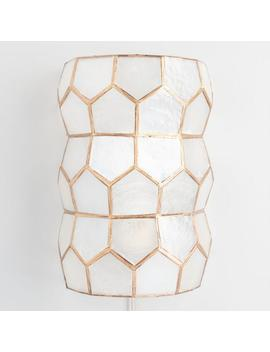 Gold Capiz Wall Sconce by World Market
