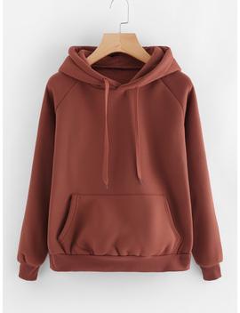 kangaroo-pocket-drawstring-hoodie by romwe
