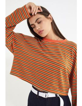 uo-jana-striped-long-sleeve-cropped-top by urban-outfitters