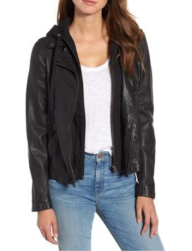 leather-moto-jacket-with-removable-hood by caslon®
