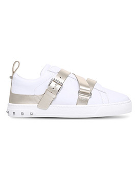 v-punk-strap-leather-trainers by valentino