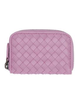 purple-intrecciato-zipped-coin-pouch by bottega-veneta