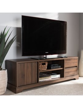 baxton-studio-burnwood-modern-and-contemporary-wood-tv-stand---walnut by baxton-studio