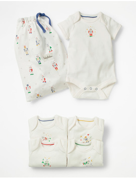 5 Pack Robot Bodysuits by Boden