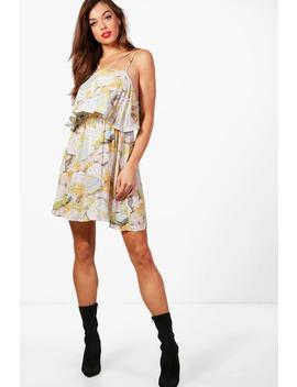 strappy-floral-skater-dress by boohoo