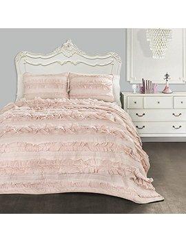 lush-decor-belle-3-piece-comforter-set-3,-twin-xl,-blush by lush-decor