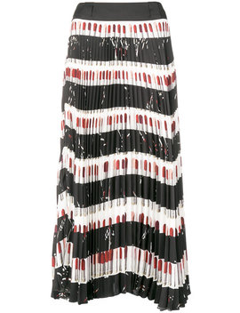 pleated-printed-skirt by prada