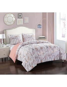 pop-shop-marble-comforter-set,-twin,-rose-gold by pop-shop