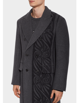 barocco-border-wool-blend-coat by versace