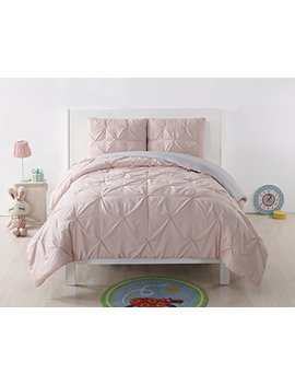 laura-hart-kids-pleated-reversible-xl-comforter-set,-twin-x-large,-blush_silver-grey-pleated by laura-hart-kids