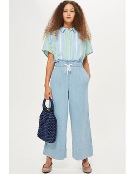 moto-bleach-draw-tie-cropped-jeans by topshop