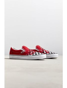 vans-slip-on-checkerboard-flame-sneaker by vans