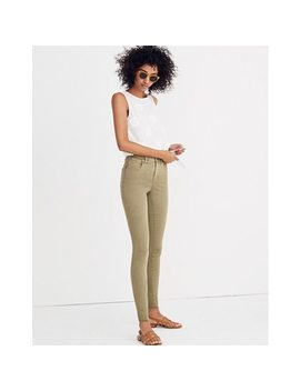 "Short 9"" High Rise Skinny Jeans: Raw Hem Garment Dyed Edition by Madewell"