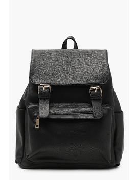 ellie-double-buckle-rucksack by boohoo