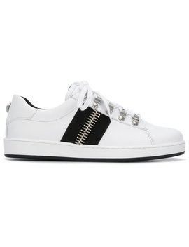 zip-detal-low-top-sneakers by balmain