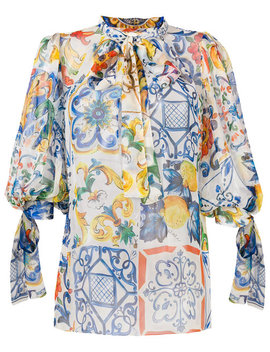 majolica-print-blouse by dolce-&-gabbana