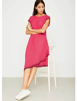 Pink Aztec Embroidered Dress by Mint Velvet