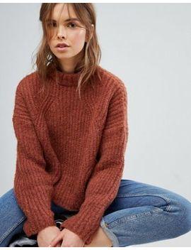 bershka---maglione-lavorato-a-trecce-con-maniche-a-palloncino by asos