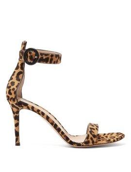 portofino-85-leopard-print-calf-hair-sandals by gianvito-rossi