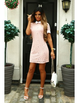here-for-love-blush-pink-lace-shift-dress by pink-boutique