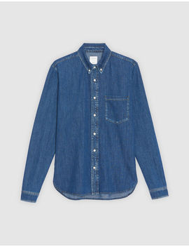 chemise-en-jean-brut by sandro-paris