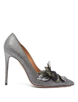 poison-105-glittered-leather-pumps by aquazzura