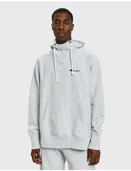 deconstruction-hooded-sweatshirt-in-grey by champion-reverse-weave