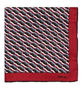 geometric-print-silk-twill-pocket-square by prada
