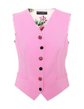 printed-wool-blend-vest by dolce-&-gabbana