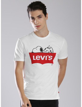 levis-men-white-printed-round-neck-t-shirt by levis