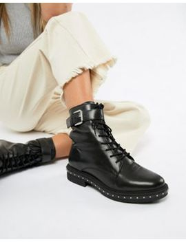 asos-design-algebra-leather-lace-up-boots by asos-design