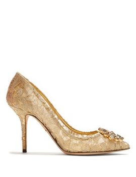 bellucci-crystal-embellished-lace-pumps by dolce-&-gabbana