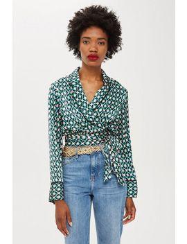 Geometric Print Pyjama Top by Topshop