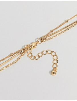 asos-design---collier-multirangs-avec-chaîne-délicate-et-breloque-à-emblème-style-vintage---doré by asos-design
