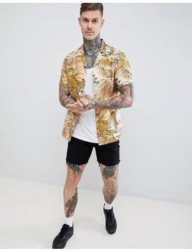asos-design-regular-fit-tiger-print-shirt by asos-design