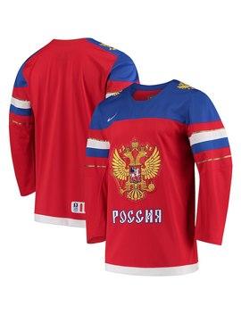 russia-hockey-nike-2018-winter-olympics-iihf-replica-jersey---red by nike