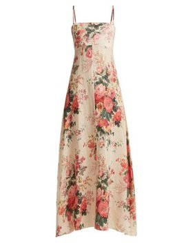 laeila-floral-printed-linen-dress by zimmermann