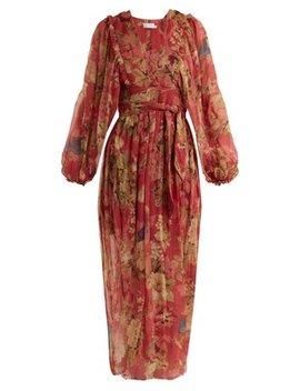 melody-wrap-floral-print-silk-dress by zimmermann